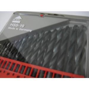ドイツ製ドリル刃 KEIL社 HSS鋼ハイス鋼 ドリル刃 19本セット わけあり/訳あり特価 ケースにキズありのため|dougumanzoku