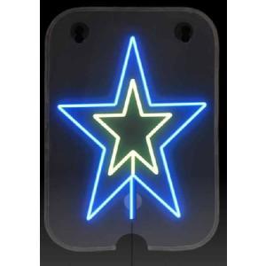 ソーラー クリスマスイルミネーション!手巻き充電付き お星さま(新品) 2個セット|dougumanzoku