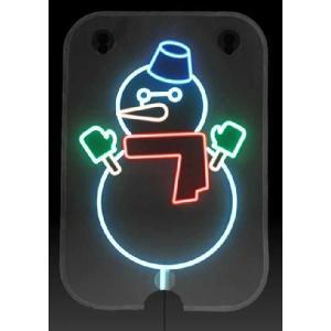 ソーラー クリスマスイルミネーション!手巻き充電付き 雪だるまちゃん(新品)2個セット|dougumanzoku