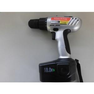 電動ドリルドライバー レンチ/充電式18V/ドリル刃5PCビット付き/訳あり特価/ハンドル部修正のため/状態ランク1(写真参照)|dougumanzoku