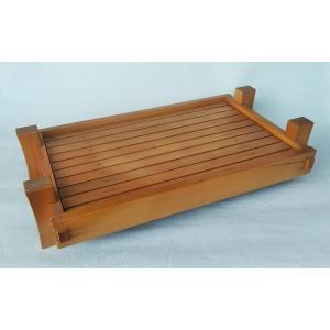 盛器 木製 足付 料理盛器 尺6寸 48cm 下司付 リバーシブル アウトレット|douguya-net
