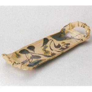 美濃焼 両手付惣の字織部流 盛皿 50cm|douguya-net