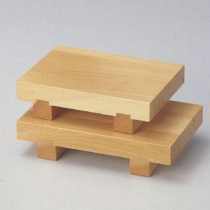 木製 白木 盛台 盛器  7寸 21cm(寿司ゲタ)|douguya-net
