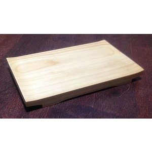 木製 白木 桧 反り 盛器  8寸 24cm|douguya-net