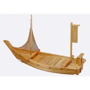 木製白木舟盛器 料理舟2尺60cm(網付)|douguya-net