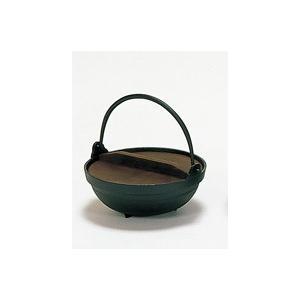 黒アルミいろり鍋21cmツル付(木蓋付)(寄せ鍋) douguya-net
