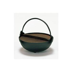 黒アルミいろり鍋24cmツル付(木蓋付)(寄せ鍋)|douguya-net