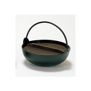 黒アルミいろり鍋27cmツル付(木蓋付)(寄せ鍋) douguya-net