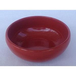 越前漆器 木目丸小鉢 柿朱|douguya-net