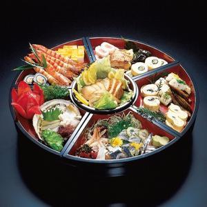 回転 オードブル皿 尺5寸 朱天黒 48cm パーティー皿|douguya-net
