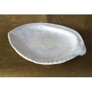 パールあわび盛皿 (大) 尺4アクリル樹脂 パーティー皿 盛鉢 寿司刺身宴会盛器|douguya-net