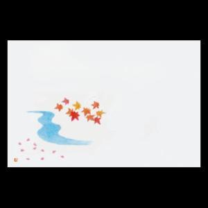 上質紙和紙マット尺3 春秋(桜と紅葉) 38×26cm 100枚|douguya-net