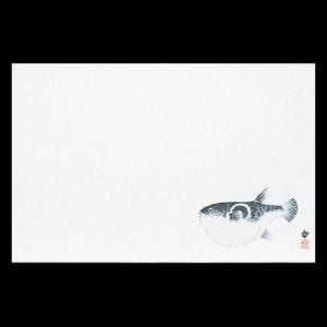 雲竜和紙マット尺3 ふぐ 38×26cm 100枚|douguya-net