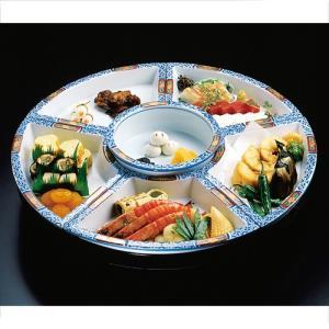 回転オードブル皿 錦小花大皿 尺5寸 45cm パーティー皿 盛皿 有田焼|douguya-net
