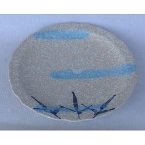 有田焼 中皿 水に芦の絵 6寸皿 和皿|douguya-net