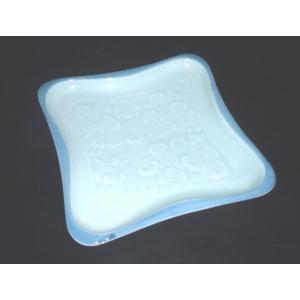有田焼 銘々皿 青磁ボタン彫 角皿 取皿|douguya-net