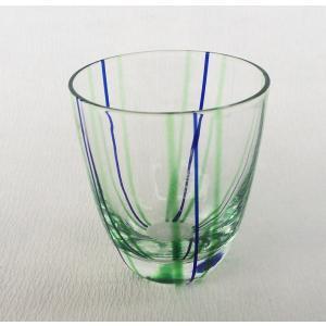 二色 十草 ぐい飲み 盃 まゆ型 ガラス 小付 アウトレット|douguya-net