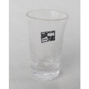 廣田硝子 きらら ぐい呑み 1客 一口ビール型 貫入 ガラス|douguya-net