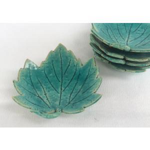 清水焼 銘々皿 嘉峰窯 山里木の葉 5枚組|douguya-net