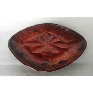 国産 木製 盛皿 本漆塗 菱形 手彫り 盛鉢 すり漆 香川漆器 漆器|douguya-net