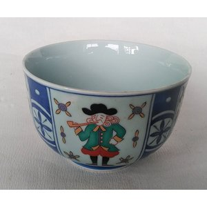 有田焼 ヘルシー丼 色絵異人帆船 めん鉢  飯碗 茶漬 ご飯茶碗 特大 douguya-net