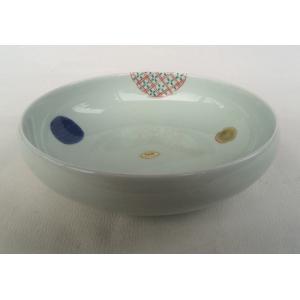 有田焼 錦丸紋 鉄鉢 盛皿(22cm)盛鉢|douguya-net