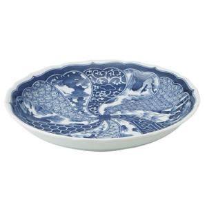 美濃焼 山水絵 祥瑞 盛皿 尺0寸(31cm)大皿 大鉢 盛込皿 Z|douguya-net