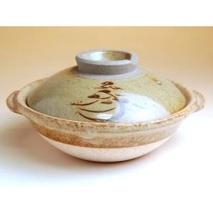 有田焼 土鍋 安楽窯 松絵 6.5号 土鍋 6.5寸 19cm|douguya-net