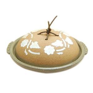 有田焼陶板土鍋 平兵衛唐草1尺1寸蓋付陶板(33cm)(蒸し焼用)|douguya-net