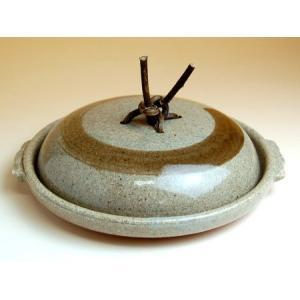 有田焼 平兵衛刷毛7寸蓋付陶板(21cm)(蒸し焼用)|douguya-net