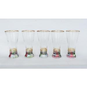 タンブラー ロマンカラー 5客 ビアーグラス ジュースグラス|douguya-net