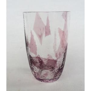 タンブラー 紫色紙 佐々木硝子 手造り 1客|douguya-net