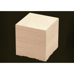 木製おせち白木8寸重2段 インロー蓋 金敷紙+6ツ仕切セット|douguya-net