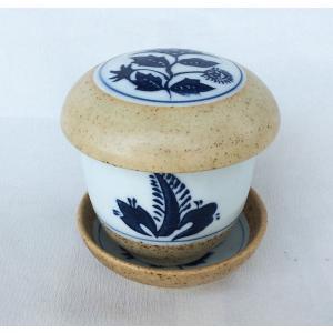 有田焼 むし碗 さびあざみ 茶碗蒸し 台皿付|douguya-net