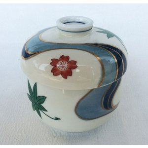 有田焼 むし碗 色絵竜田川 灰釉 茶碗蒸し|douguya-net