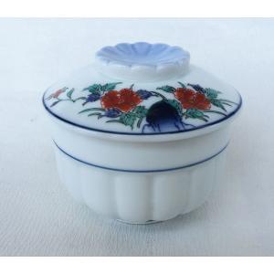 有田焼 むし碗 色絵岩牡丹 茶碗蒸し|douguya-net