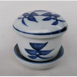 有田焼 むし碗 染付松絵 台付 5客 茶碗蒸し|douguya-net
