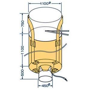 10枚組 モリリン 【排出口付】 フレコン 千尋バック 丸型 MB-2 1t用 UV耐候|douguya