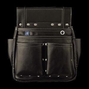 ふくろ倶楽部 朱雀 六型 黒 SZ-886K 釘袋 腰袋|douguya