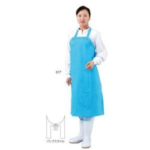 【ポイント5倍】 エブノ エプロン No.617 L ブルー 100枚 EVAエプロン|douguyasan