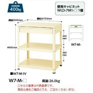 【ポイント5倍】 【代引不可】 山金工業 ヤマテック ワゴン W7-M-G 【メーカー直送品】