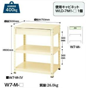 【ポイント5倍】 【代引不可】 山金工業 ヤマテック ワゴン W7-M-IV 【メーカー直送品】
