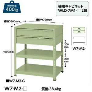 【ポイント5倍】 【代引不可】 山金工業 ヤマテック ワゴン W7-M2-G 【メーカー直送品】