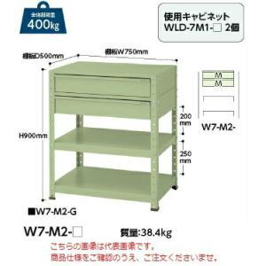 【ポイント5倍】 【代引不可】 山金工業 ヤマテック ワゴン W7-M2-IV 【メーカー直送品】