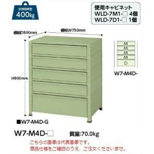 【ポイント5倍】 【送料無料】【代引不可】 山金工業 ヤマテック ワゴン W7-M4D-IV