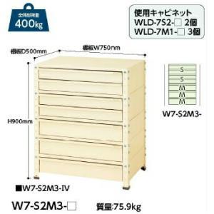【ポイント5倍】 【代引不可】 山金工業 ヤマテック ワゴン W7-S2M3-IV 【メーカー直送品】