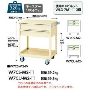 【ポイント5倍】 【代引不可】 山金工業 ヤマテック ワゴン W7CS-M2-G 【メーカー直送品】