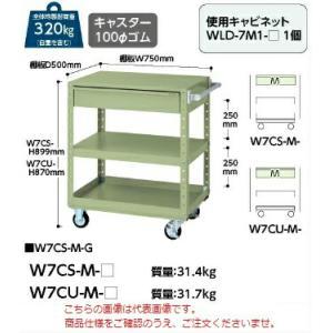 【ポイント5倍】 【代引不可】 山金工業 ヤマテック ワゴン W7CU-M-G 【メーカー直送品】