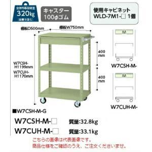 【ポイント5倍】 【代引不可】 山金工業 ヤマテック ワゴン W7CUH-M-G 【メーカー直送品】