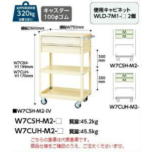 【ポイント5倍】 【代引不可】 山金工業 ヤマテック ワゴン W7CUH-M2-IV 【メーカー直送品】